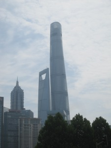 The Shanghai Tower is the huge one, currently the largest in China.