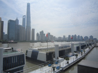 The Huangpu River cuts right through the city.