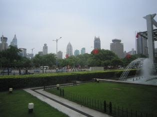 This is People's Park, the Central Park of Shanghai.